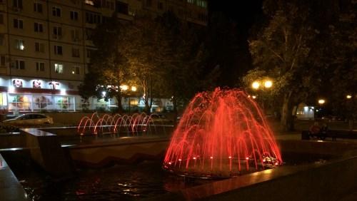 Установка освещения фонтана в городе Самара
