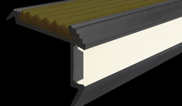 Накладные алюминиевые профили с диодной подсветкой