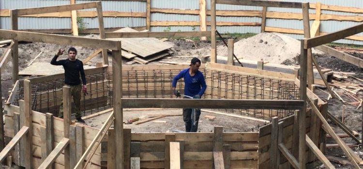 Работы по строительствуфонтана на территории «Парка культуры и отдыха «Винновская роща»» в городеУльяновск