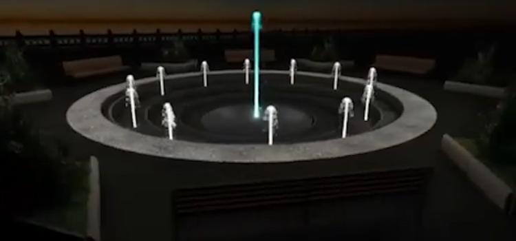 Строительство фонтана в Саратове